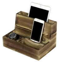 China Mens Cell Phone Wooden Charging Station For Desk Sundries Customized Color wholesale