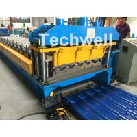 China 3D Step Tile Roll Forming Machine , Glazed Roof Panel Roll Forming Machine wholesale
