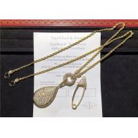 China boucheron jewelry High End 18K Gold Diamond Necklace , Custom Snake Necklace wholesale