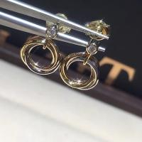 China Cartier Trinity Earrings High End Custom Jewelry With Three Interlaced Bands wholesale