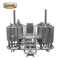 Quality 3mm Steam Heated Pub Brewhouse , 15 BBL Stainless Steel Micro Brewing Equipment for sale