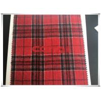 China Red background Black Line Medium Tartan Wool Fabric Single Sided Wool Fabric Flannel Thin wholesale