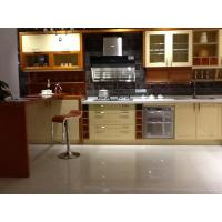 China Classic Kitchen Wall Cabinets / Kitchen Sink Unit With Cupboard Gloss Surface wholesale