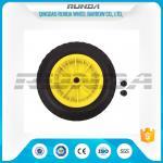 China Inflatable Pneumatic Rubber Wheels 16mm Inner Hole Plastic Rim Bush Bearing 3.50-8 wholesale