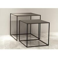 China Mini Tube 9mm Thinckness Top Panel Square Nesting Tables For Garment / Shoes on sale