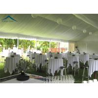 China European  Style Aluminium Frame Party Tents With Roof Linings And Curtains wholesale