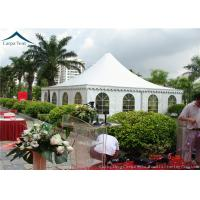 China Arabic Style White PVC Pagoda Tents  White Outdoor Tent Over 200 People wholesale