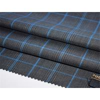 China Fashion Modern Checked Worsted Wool Suiting Fabric on sale