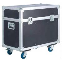 China Orange Aluminum tool flight case with wheels for Stage Sound wholesale