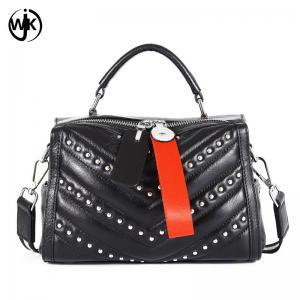 China Top quality designer messenger tote bags black crossbody bag leather famous women handbag wholesale
