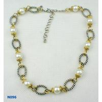 China Silver Color Custom Fashion Jewelry Beaded Pearl Necklace for Anniversary wholesale