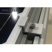 China Aluminium Solar Roof Mounting Systems PV End Clamp Customized Dimensions wholesale