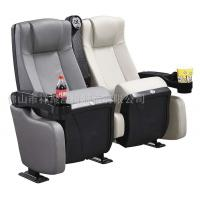 China Foldable Leather Cinema Theater Chairs With Movable Cup Holder 600 * 770 * 1060 mm wholesale