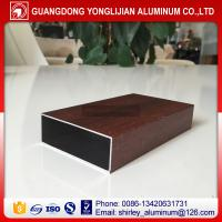 Buy cheap Wood grain aluminum square tubes,aluminum square hollow tube,aluminum extrusion from wholesalers