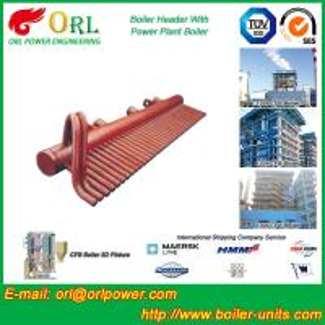 China Power Plant CFB Boiler Header / Boiler Low Loss Header High Temperature wholesale