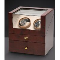 China Dual Wooden Watch Case , Automatic Watch Winder With Soft Velvet Pillows wholesale