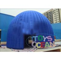 China Durable Blue Inflatable Dome Tent / Extrior Inflatable Exhibition Tent For Event wholesale