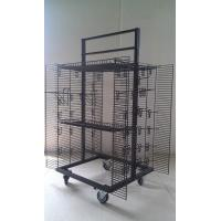 China Four sided Wire Display racks /  Shelving with wheels with two side panels, 2 brakes wholesale