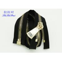China 22 Inch Industry Big Teeth Zipper 10 # Euro Type Big Teeth Open End Metal Zip Customized wholesale