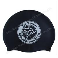 Quality printing silicone swimming cap for sale