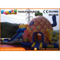 Buy cheap PVC Tarpaulin Inflatable Combo Games Inflatable Spongebob Bouncer With Slide from wholesalers