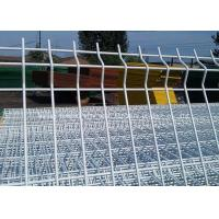China Powder Coated Welded Wire Garden Fence , Metal Mesh Fence Panels Square Hole wholesale