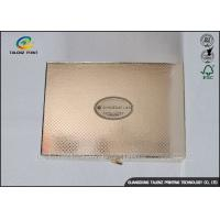 China Luxury Golden Paper Cosmetic Box , Foil Stamping Art Paper Box For Valentines wholesale