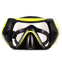 China Adult Food Grade Silicone Snorkel Mask , Anti Fog Scuba Mask One Piece Lens wholesale