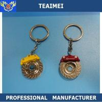China Embossed Brake Disc Car Key Keychains Promotional Keyrings For VOLVO / FORD on sale