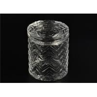 China Bulk Glass Tealight Holders / Glass Candlestick Holders Used In Sented Soy Wax wholesale