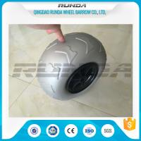 China 9 Inch Pneumatic Rubber Wheels PP Rim , Balloon Hand Truck WheelsWithout Bearing wholesale