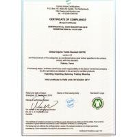 DongGuan YiJu Textile Co.,Ltd Certifications