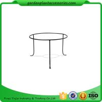 """China Decorative Indoor Small Plant Tray Stand Powder Coated Stainless Steel 12-1/4"""" top diameter, 14-3/8"""" bottom diameter x 8 wholesale"""