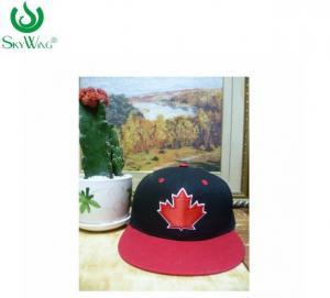 Custom Logo Flat Bill Golf Cap / Mens Snapback Hats Customized Size