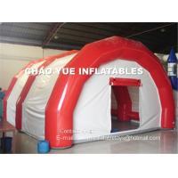 China Outdoor Hospital PVC Tarpaulin Inflatable Emergency Tent With Red And White Color on sale
