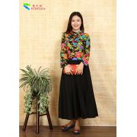 China Breathable Ladies Cotton Clothing Modified Vintage Cheongsam Shirt Double Layer Quilting wholesale