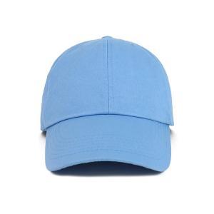 China OEM Blue Color None Logo Cotton Fabric Baseball Cap wholesale