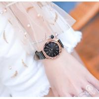 Quality GUOU Simple Fashion Girls Genuine Leather 3 ATM Waterproof  Quartz Wrist Watches 6608 for sale