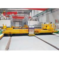 China Workshop Annealing Furnace Material Transfer Carts Electric Powered In Yellow wholesale