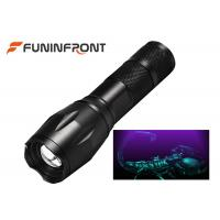 China 3W High Power Black Light LED Flashlight 395NM Wavelength Adjustable Focus Torch wholesale
