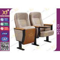 China Fixing Leg Damper Return Auditorium Auditorium Chairs , Movie Theatre Chairs wholesale