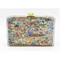 New Style Acrylic Colorful Shells High-End Ladies Evening Clutch Bag Party Bridesmaid Bag