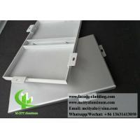 China Solid Aluminium Wall Cladding Panels For Building Facade Powder Coated With Bracket wholesale