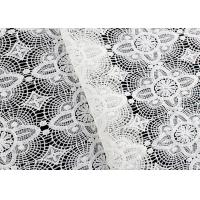 China Floral Schiffli Guipure Lace Fabrics With Chemical Poly Milk Fiber SGS Approval wholesale