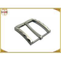 China Metal Zinc Alloy Pin Belt Buckle With Clips Nickel Color With 40 MM wholesale