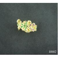 China OEM Children's Alloy Copper Jeweled Hair Accessories Shine Flower Hairpin Jewelry wholesale