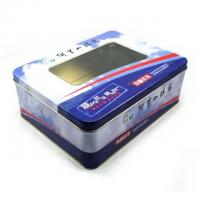 China Chocolate Tin Celebrations Chocolate Box With PET Window On Top , Coated With A Fine Layer wholesale