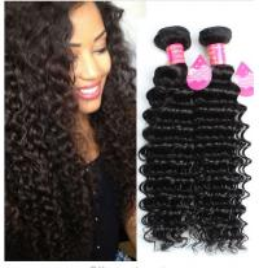 China Long Lasting Brazilian Deep Wave Human Hair , 8A Brazilian Virgin Hair wholesale