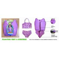 China OEM purple little girls vest, purple kids youth original jacket/wet suits learn to swim wholesale