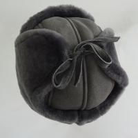 China Trapper Sheepskin Hat Shearling Mens Winter Hats With Ear Flaps on sale